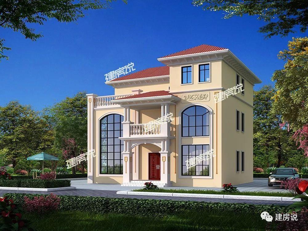 空间一样的三层别墅别墅,第1套功多造型大,第2套更实用2自建层农村图片