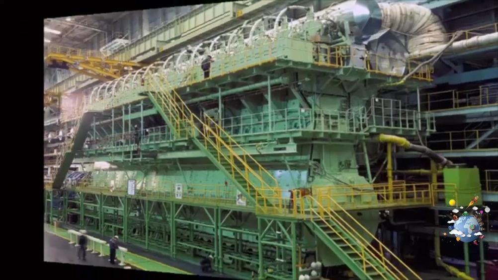 世界最大发动机,高4层楼,每小时耗油15000升柴油  ?