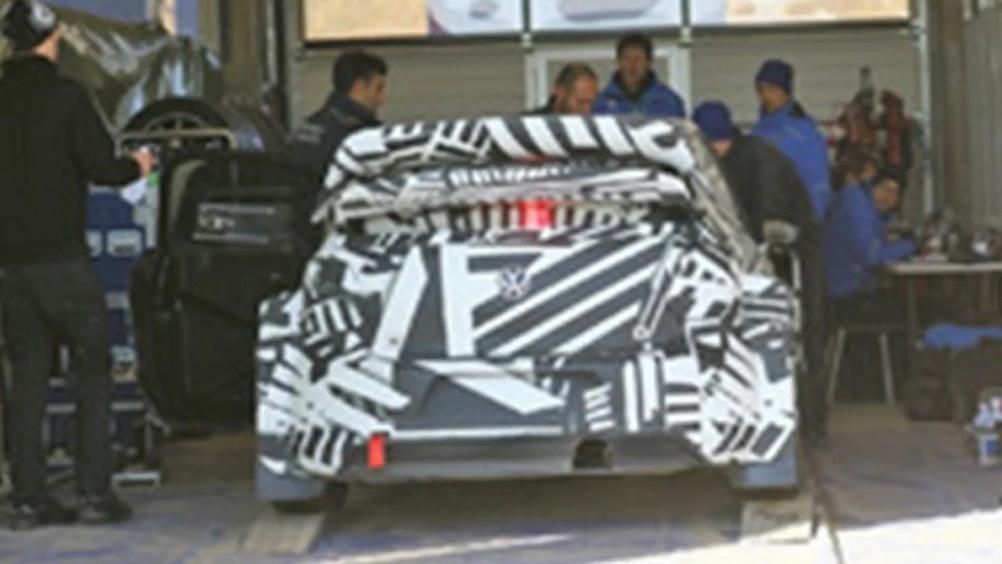 基于GIT而来 大众全新POLO赛车版谍照  ?