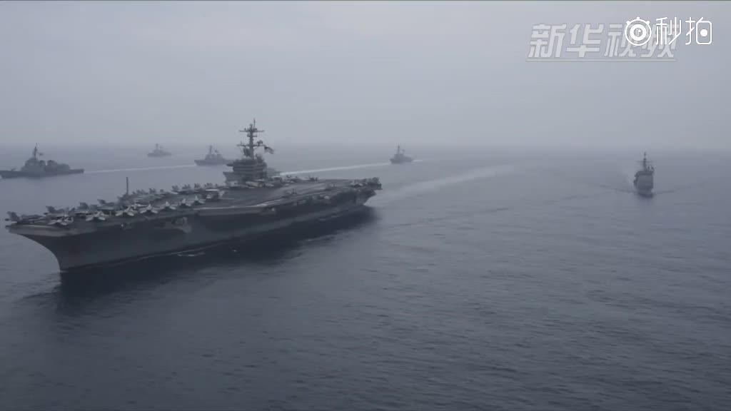 """美国第三舰队航母""""卡尔·文森""""号再赴西太平洋"""