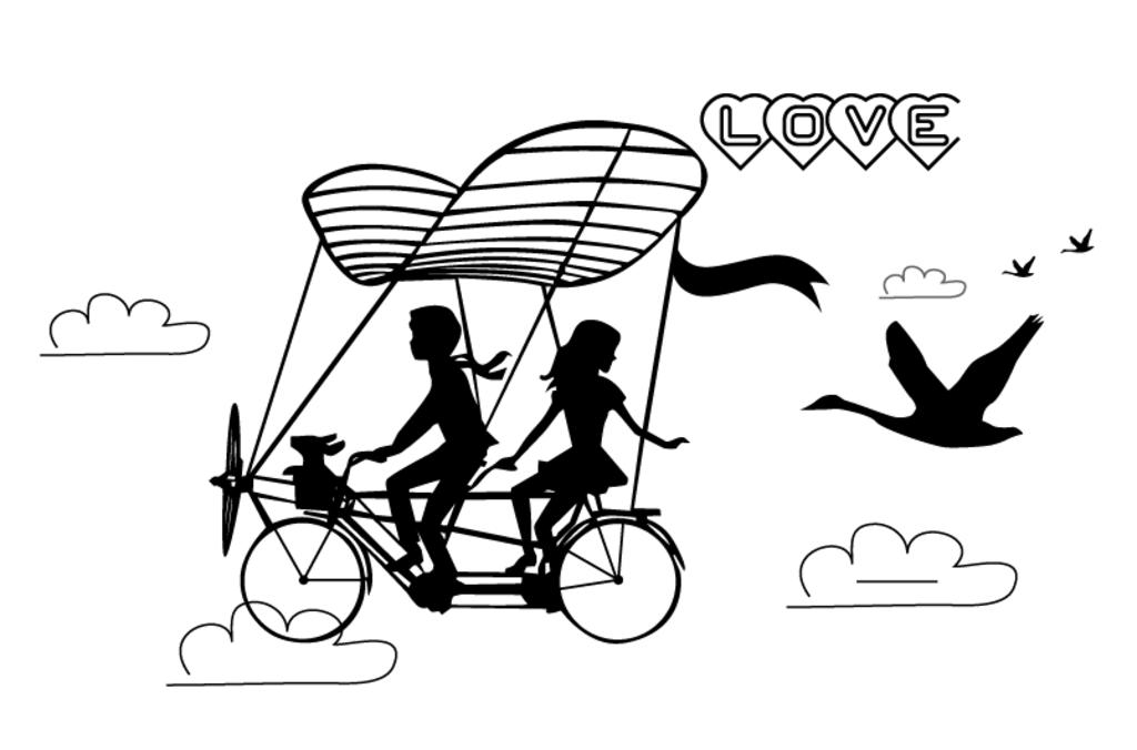 爱情简易手绘图片
