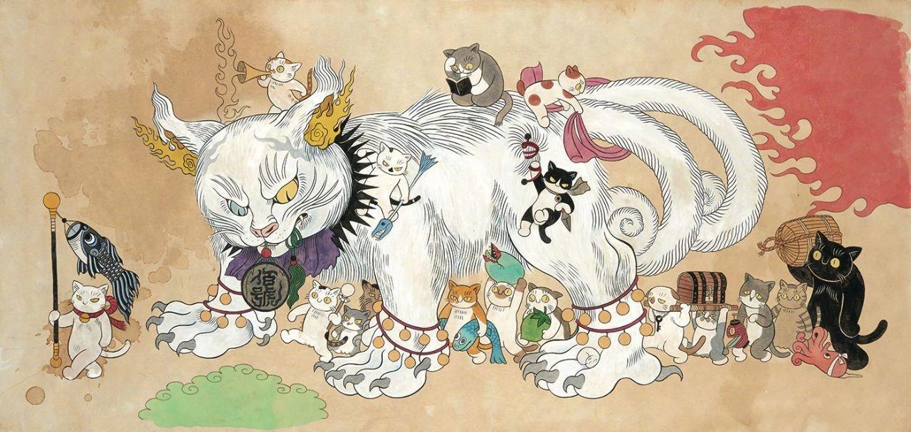 诞又恐怖之猫游戏石黑亚矢子。她是有趣漫画家漫画图片素材来自做的图片