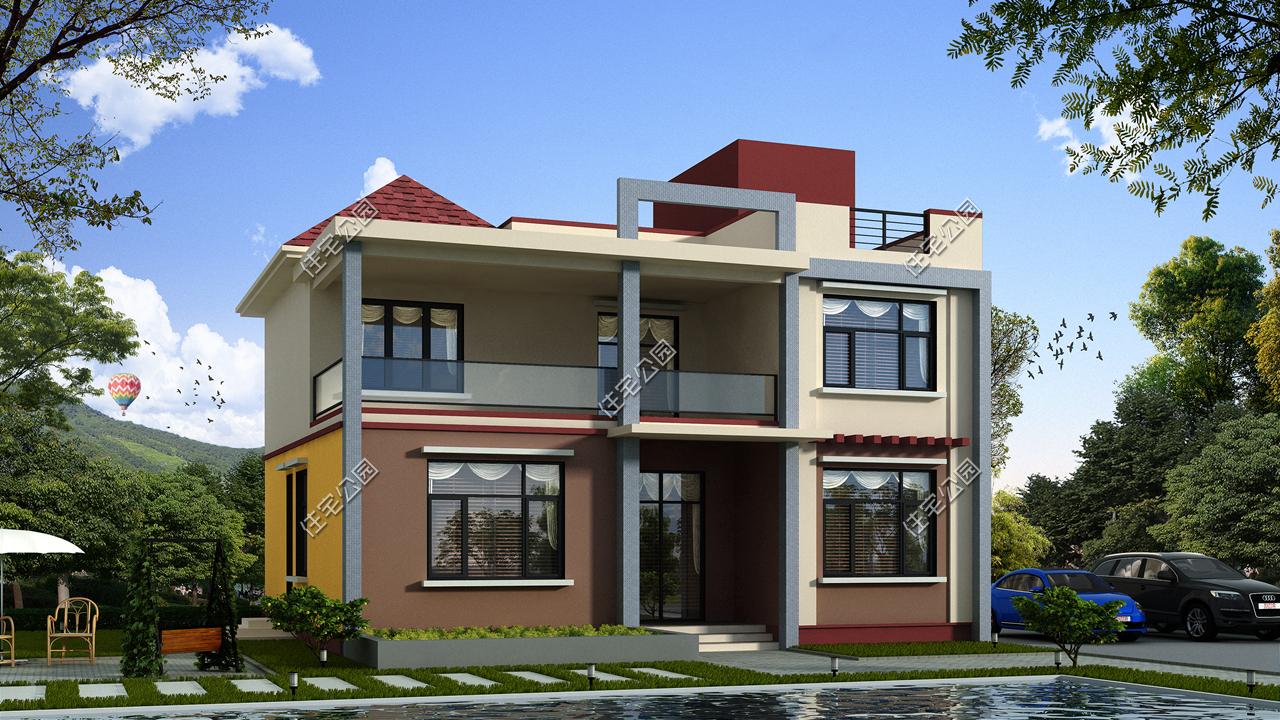 首先是第一套,简洁的现代别墅,充满造价感,两层别墅25万内,你喜欢?工业销售活动图片