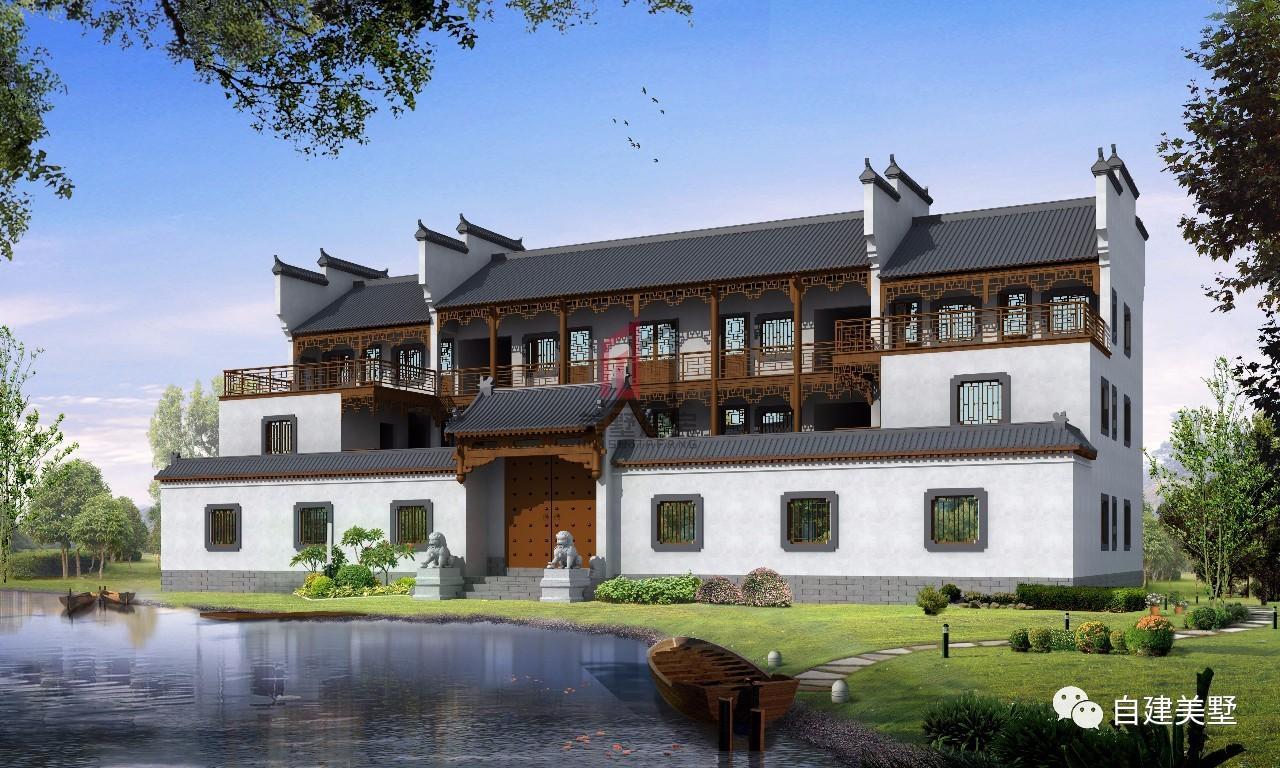 农村自建房别墅, 四款新中式建筑效果图, 带你飞!图片