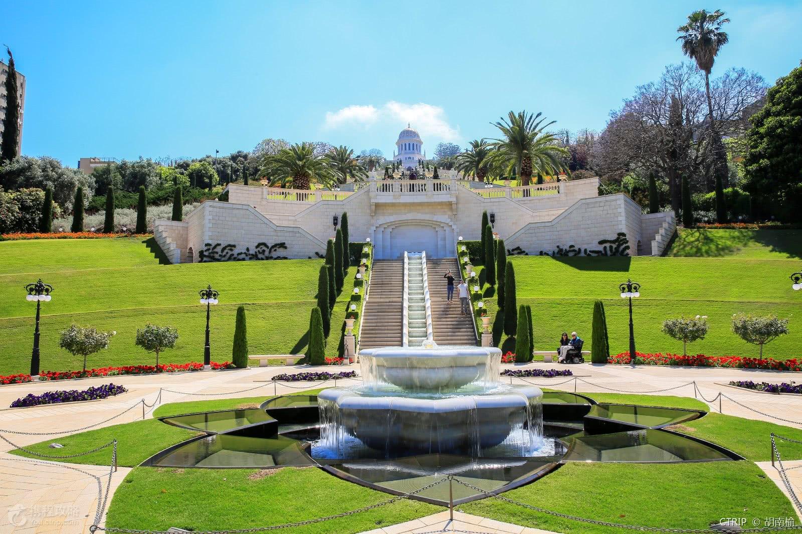 美丽庄严的巴哈伊空中花园!图片