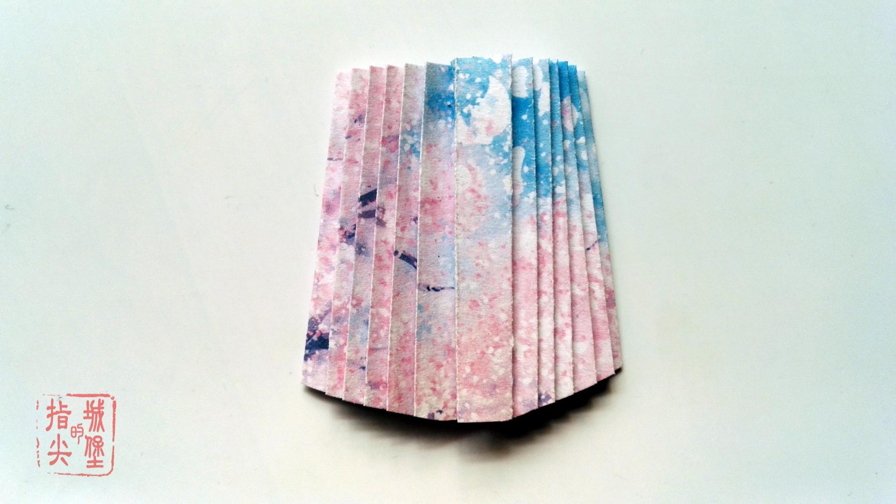 汉服折纸书签,中国风折纸q版,手工折纸教程图解(下篇)图片