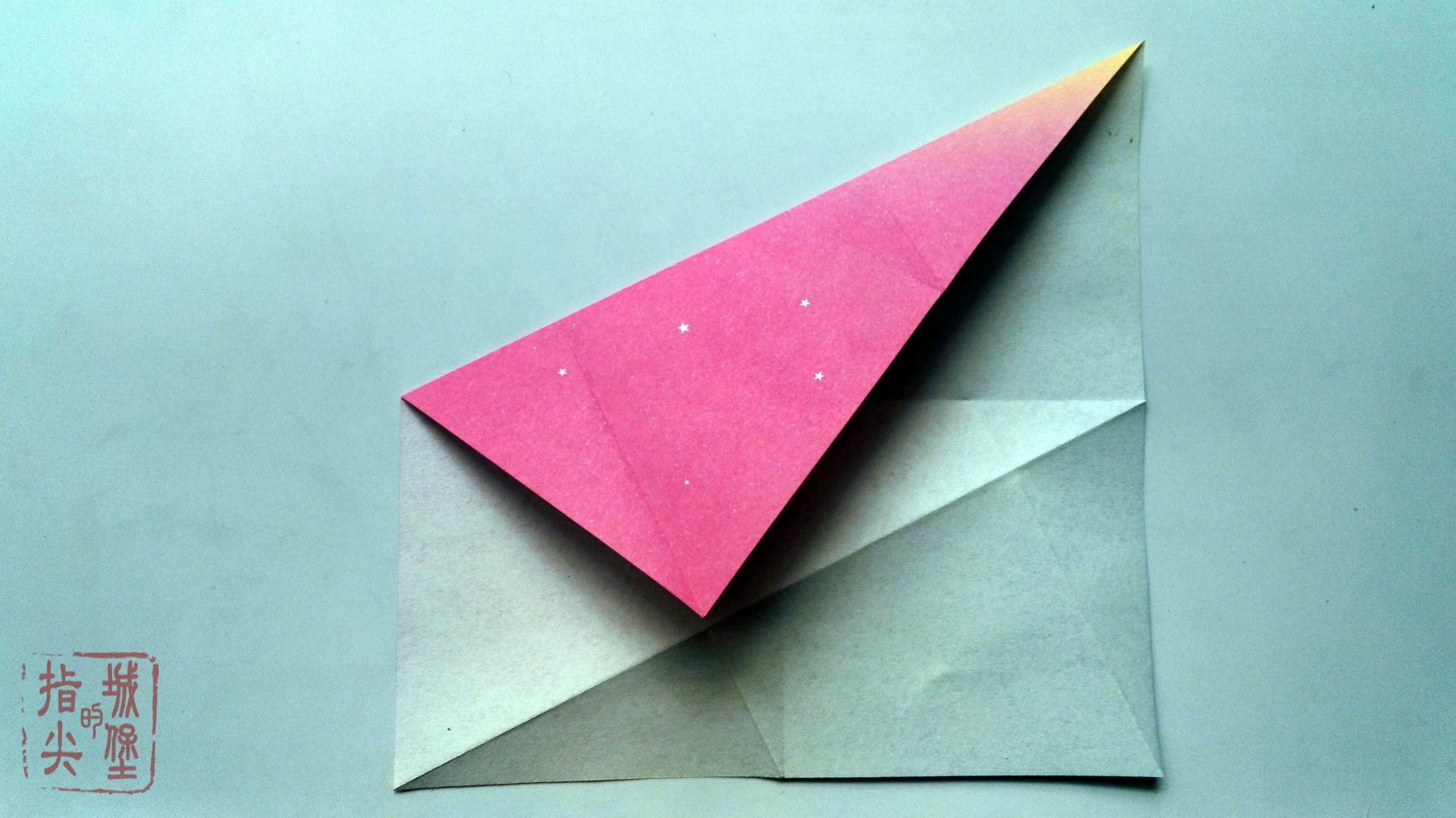 正方形折简单的风车折纸信封, 折纸信封详细图解教程