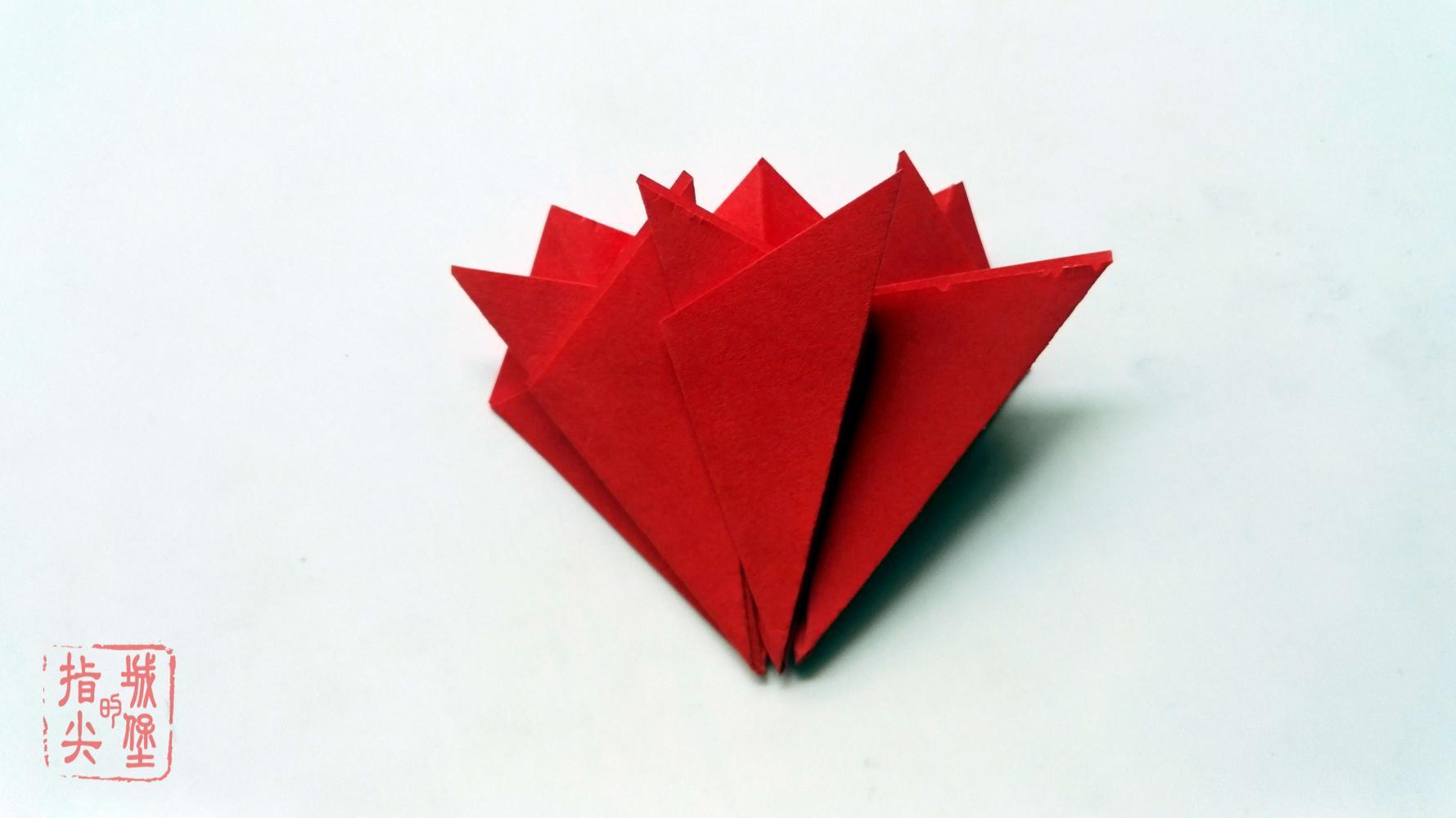 幼儿园简单的手工花朵折纸, 折纸康乃馨步骤图解