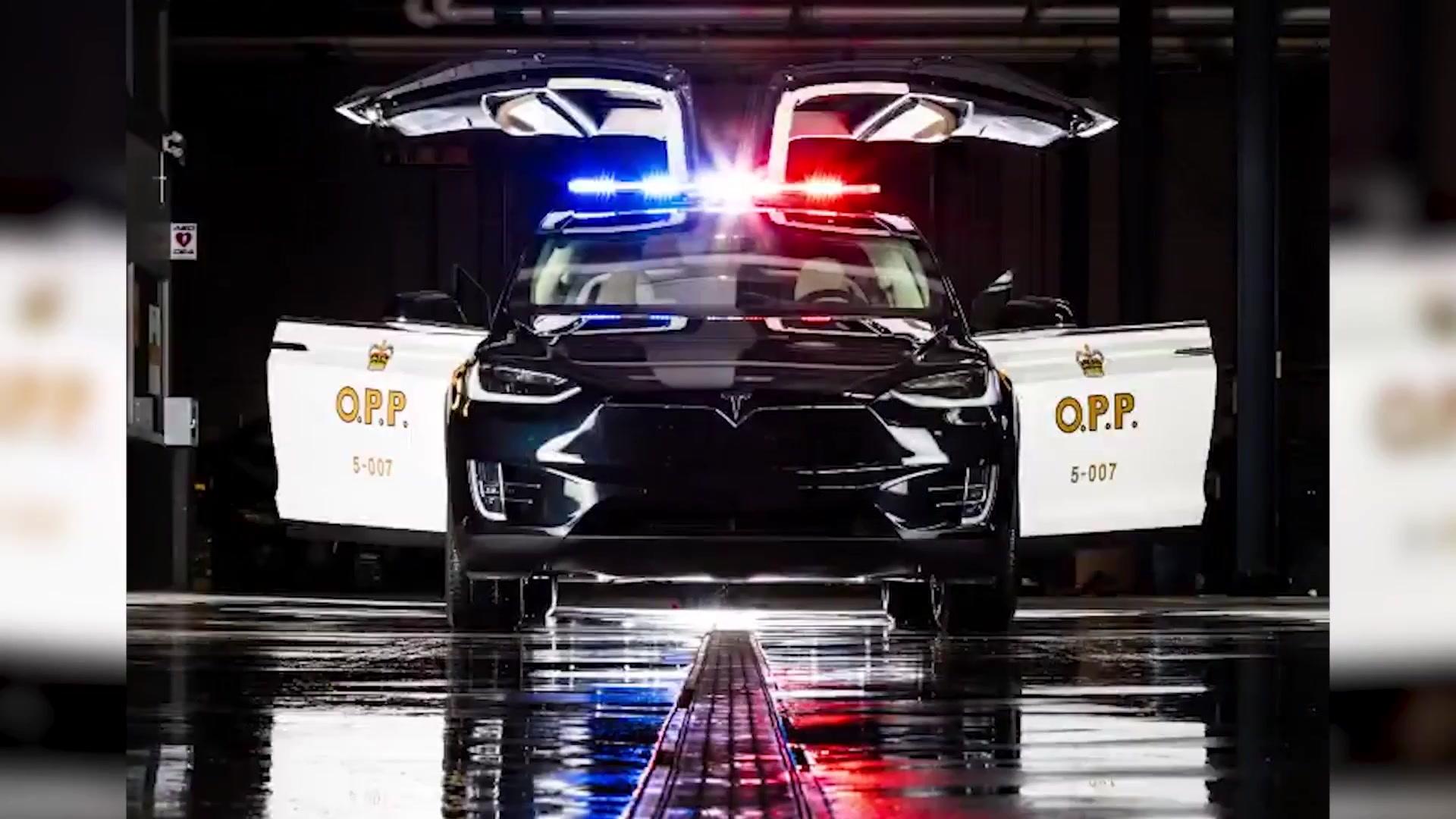 加拿大安大略省的新警车!特斯拉Model X 多伦多车展亮相!这也是全球...