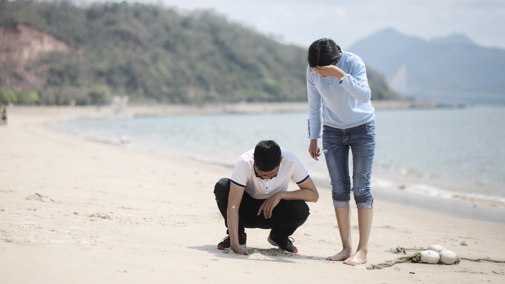 海边拾趣2018年3月13v竹筒于广东惠州亚婆角竹筒幼儿玩法游戏大班图片
