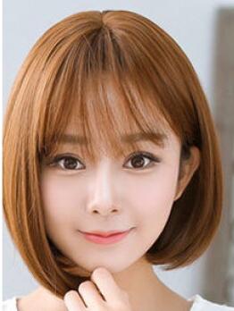齐刘海变薄发型图片 减龄圆脸的神器