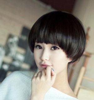适合阳光知性的圆脸学生短发又发型郭采洁沙宣短发图片