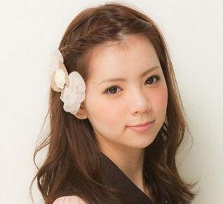 韩国中分中长发发型扎法技巧图片