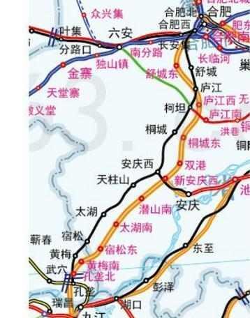 确定技术标准为客运双线,设计时速350公里/小时,确定线路方案从安徽省