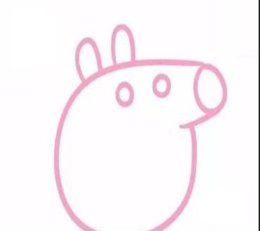 育儿简笔画可爱小猪佩奇一家人,两分钟.