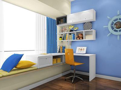 这款l型转角书桌飘窗设计非常巧妙,既考虑到了飘窗具备的书桌功能,又图片