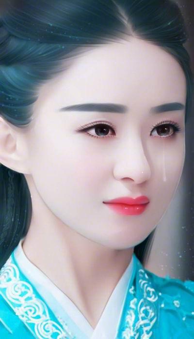 手绘下的赵丽颖仙气十足,毛晓彤美得惊人!杨幂和她有