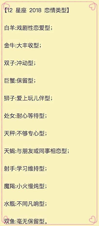 """12不够之""""2018类型恋情"""":大丰金牛收型,巨蟹保留型,天秤星座专心型!狮子座男说挽回怎么分手图片"""