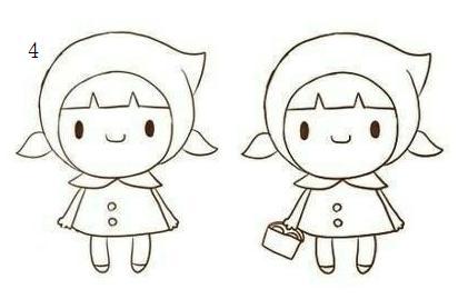 可爱的动漫人物萌版简笔画教学 樱木 小红帽 干物妹