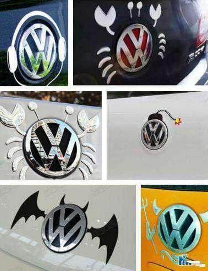 恶搞的汽车标志,比亚迪车主太有想法了,改的车标亮了!
