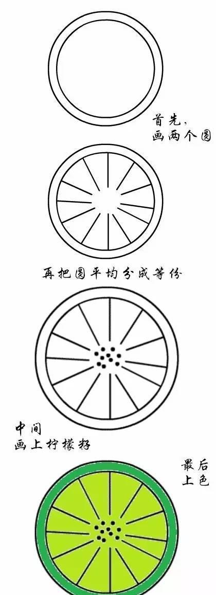 10,柠檬简笔画
