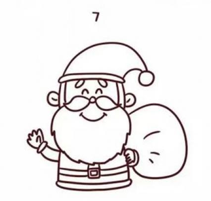 2017圣诞老人彩色简笔画步骤教程,儿童学画圣诞老人怎么画简单