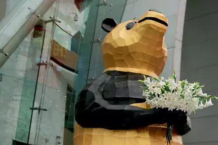 """围观!春熙路来了只""""奇葩""""的熊猫儿!"""