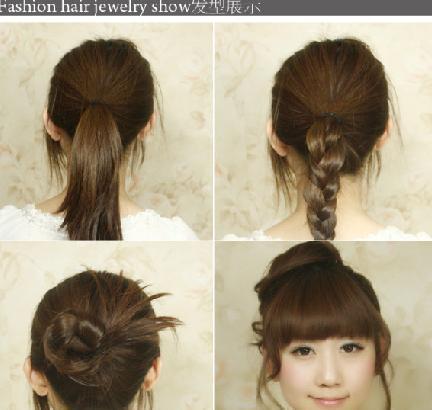 韩式diy公主发型扎法 编发发型步骤图解教程