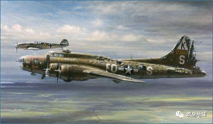 二战空战史最温情绅士的一幕: 德国战斗机为受伤美军轰炸机护航!