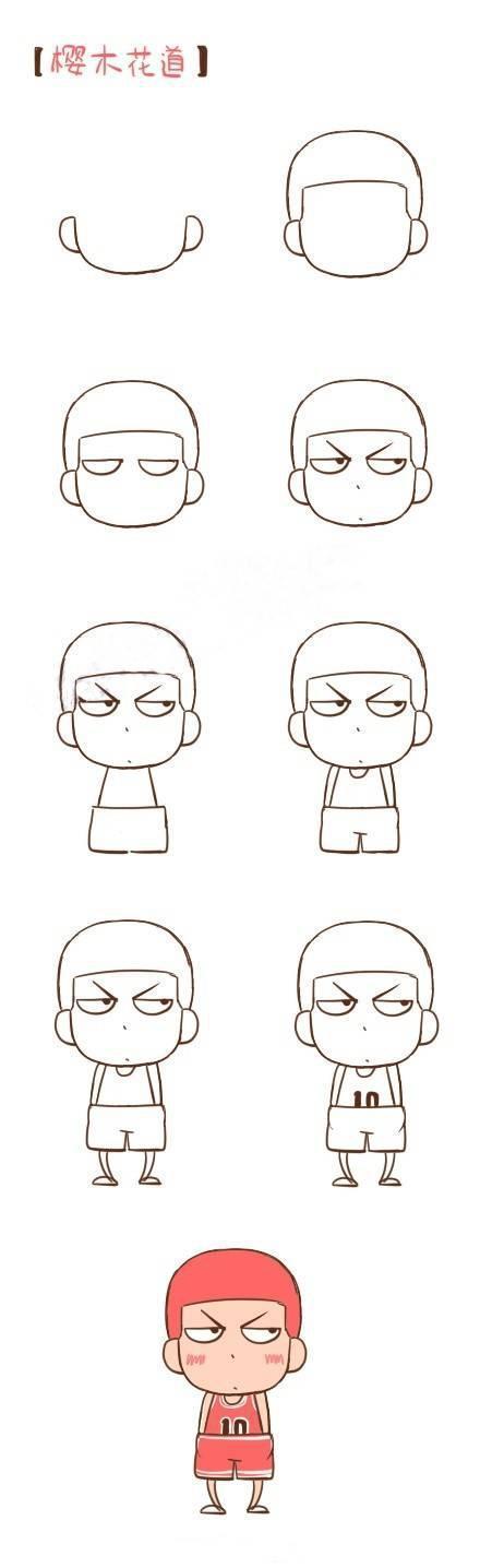 可爱简笔画动漫人物合集 一分钟学会拿去教小朋友