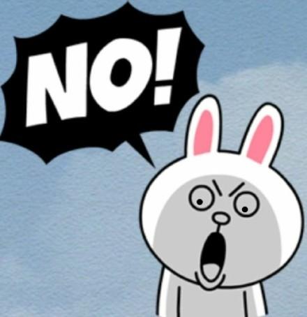 小兔子表情脸表情包图片