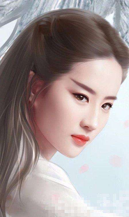 手绘时装装扮的赵丽颖美得像外族公主,热巴蒋欣杨幂更