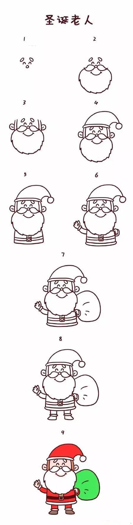 圣诞节图片大全简笔画图片,简单又可爱的圣诞节简笔画