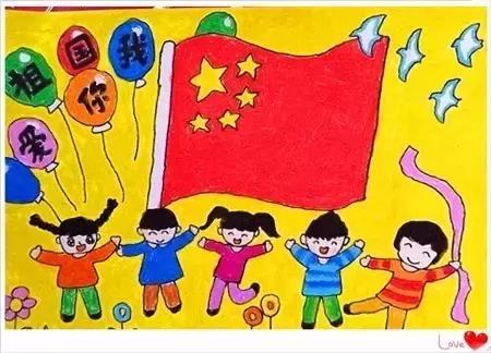 爱国儿童画画图片大全_儿童画画大全简单漂亮