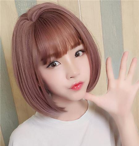 薄藤染发发型图片 粉紫色狂揽浪漫图片