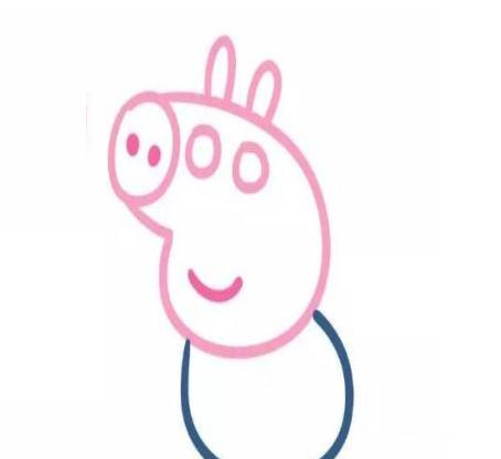 育儿简笔画可爱小猪佩奇一家人,两分钟就会画,宝宝最