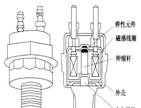 磁致伸缩式爆震传感器结构图