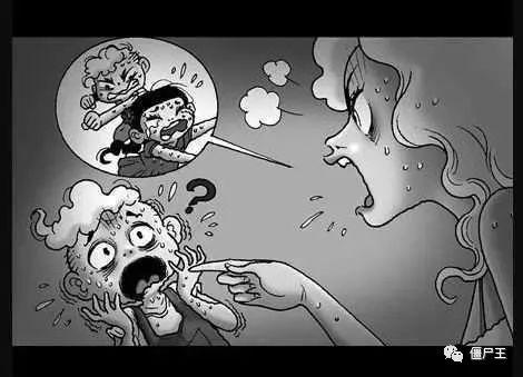 恐怖漫画:无声恐怖漫画《她知道》-僵尸王