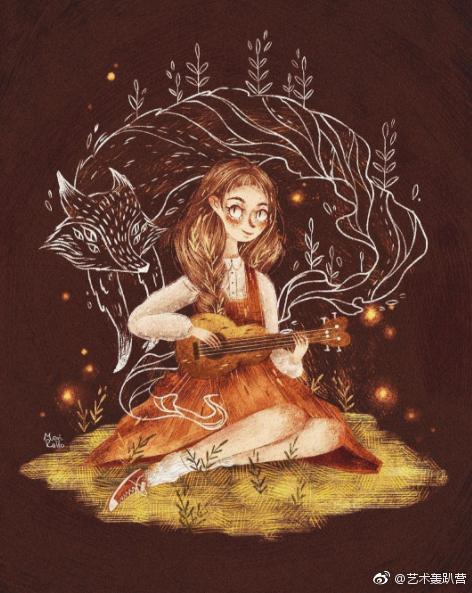 创意童话插画手绘图片
