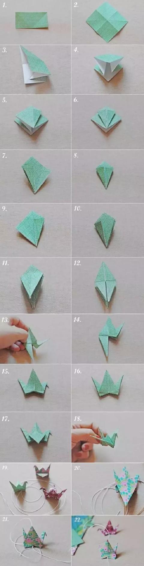 幼儿园折纸手工大全:星星千纸鹤川崎玫瑰等图片
