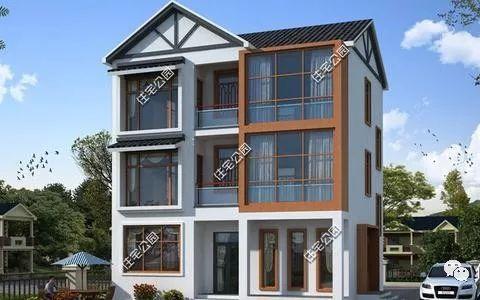 新农村25万自建9x8米小户型别墅,2种平.