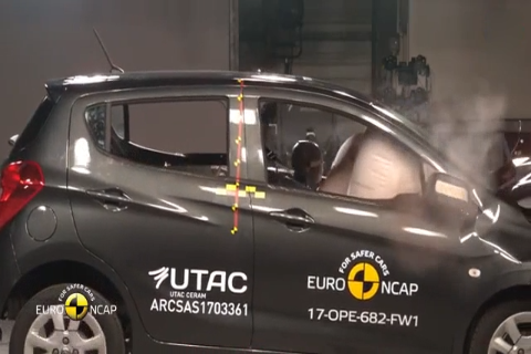 2017 欧宝 Opel V<em>aux</em>hall Karl Euro NCAP 碰撞测试