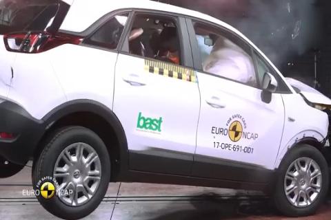 2017 欧宝 Opel V<em>aux</em>hall Crossland X Euro NCAP 碰撞测试