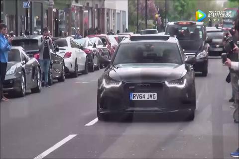 奥迪RS6街头轰油门,后面的奔驰都不敢靠近
