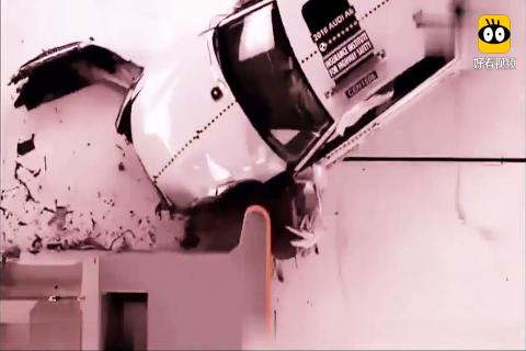 奥迪A6碰撞测试,卖的好不是没道理,A柱完好