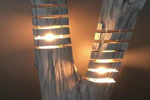 木头与灯具, 创意设计就是这么给力!