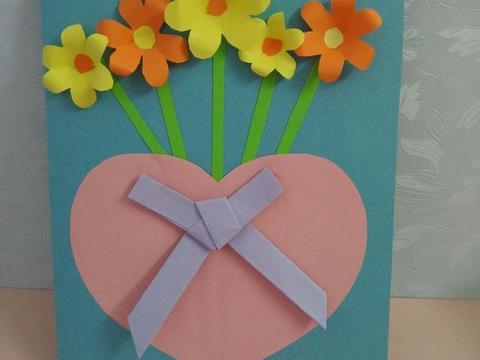 新年diy创意制作: 简单漂亮的花朵新年贺卡!图片
