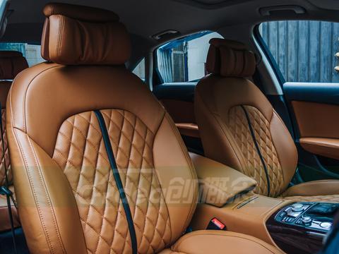 奥迪A6L<em>座椅</em>改A8款,<em>头枕</em>换成原装A8<em>头枕</em>!