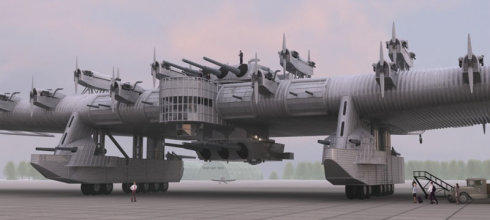 敢想敢做,军迷重建前苏联巨型空中堡垒轰炸机