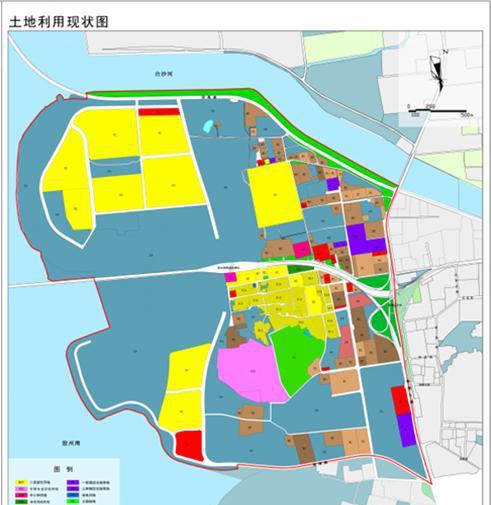 土地利用规划图 根据规划公示显示,流亭街道西部规划范围西至胶州湾